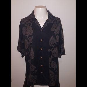 Tommy Bahama 100% Silk Floral Hawaiian Camp Shirt